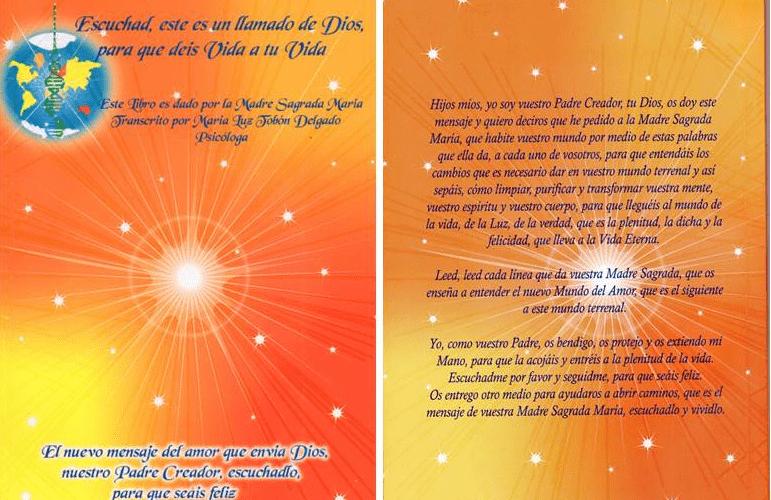 Libro Escuchad, este es un llamado de Dios para que deis Vida a tu Vida; dictado por la Sagrada Madre Celestial, la Madre de Jesús, Dios Hijo. Dirige para conecta los códigos genéticos